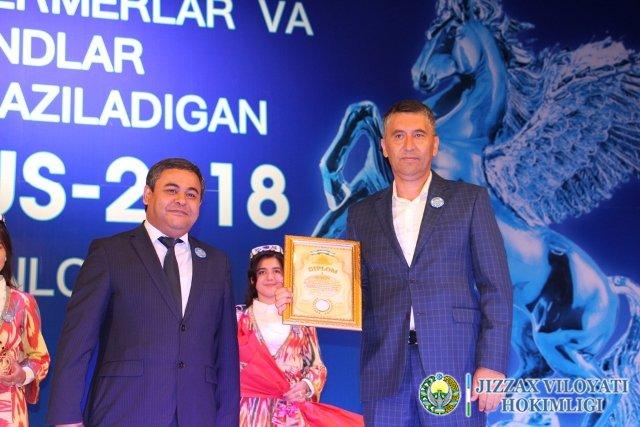 «Ташаббус-2018» Жиззах вилояти ғолиблари тақдирланди