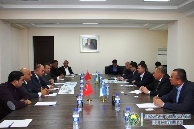 Жиззахга Туркия Республикасининг йирик компания вакиллари ташриф буюрди