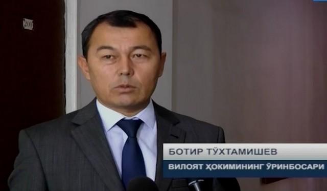Жиззах вилоят ҳокимининг ўринбосари Ботир Тўхтамишев билан суҳбат ўтказилди