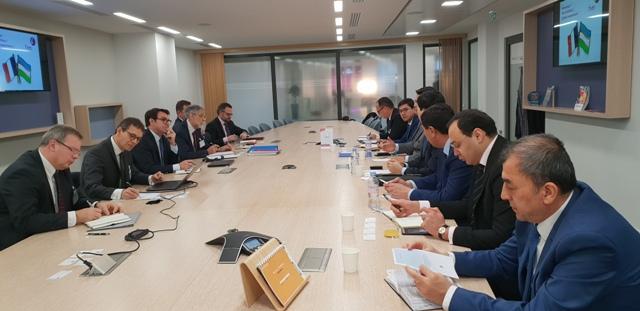 Визит во Францию: Обсуждены перспективы строительства завода по производству стекла на территории Джизакской области