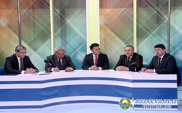 Жиззахда суд раислари брифинг ўтказди