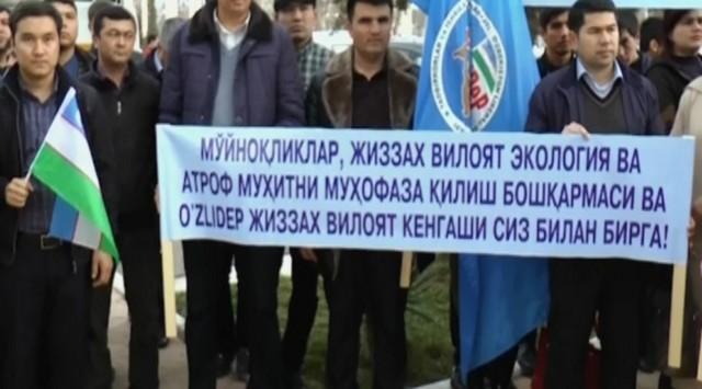 Видеорепортаж:  Жиззахдан автокарвон Мўйноққа йўл олди