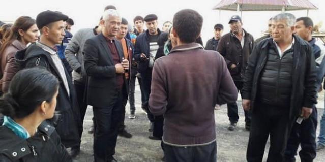 Глава Шараф-Рашидовского района ознакомился с благоустроительной работой, проводимой в области