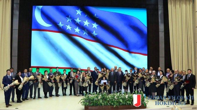 Президентимиз фармони билан берилган давлат мукофотларини вилоят ҳокими Эргаш Салиев ўз эгаларига топширди